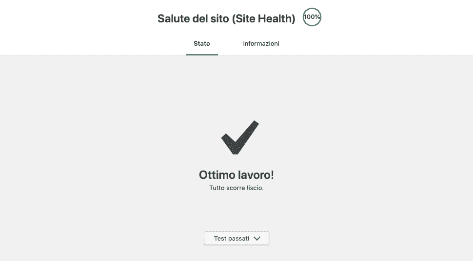Site Health di WordPress 5.2 | OK