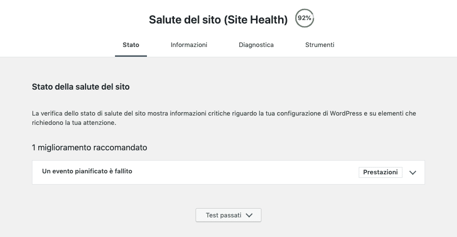 Site Health di WordPress 5.2 | Health Check Menu