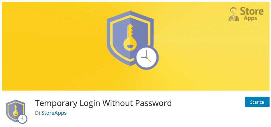 Temporary Login Without Password | Account amministratore