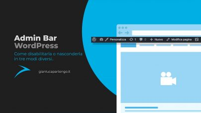 Admin Bar, come disabilitare la barra di amministrazione di WordPress